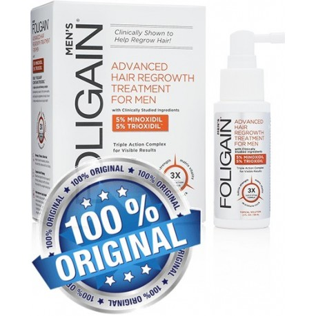 FOLIGAIN ADVANCED HAIR REGROWTH TREATMENT  For Men with 5% Minoxidil & 5% Trioxidil®
